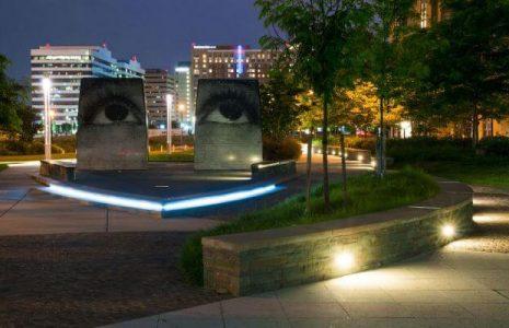 Center Park at night - Arlington, VA